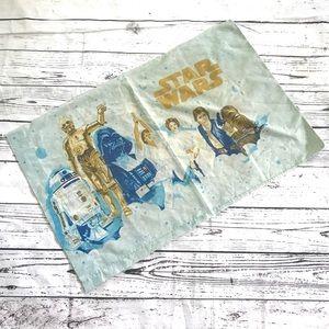 Vintage 1980's Star Wars light blue pillowcase